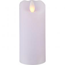 Свеча с эффектом мерцающего пламени, 12,5 см, таймер, светло-сиреневый воск