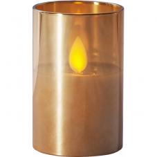 Свеча M-TWINKLE в стакане, 7.5 см, бронзовый