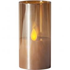 Свеча M-TWINKLE в стакане, 10 см, бронзовый