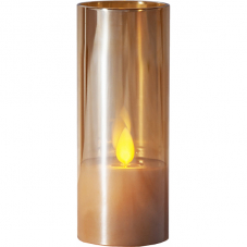 Свеча M-TWINKLE в стакане, 12,5 см, бронзовый