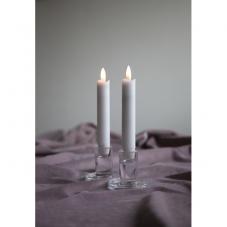 Свечи с 3D пламенем FLAMME, 2 шт., 15 см, таймер, белый парафин