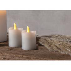 Свечи с 3D пламенем FLAMME, 2 шт., 7,5 см, таймер, белый парафин