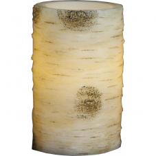 Свеча светодиодная Березовая, 12,5 см, диаметр 7,5 см