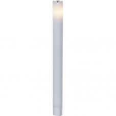 Свечи 2 шт., 24,5 см, таймер, белый воск