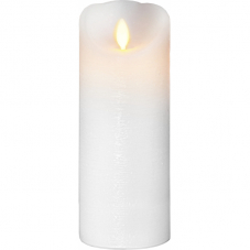 Свеча с эффектом мерцающего пламени, 20 см, таймер,  белая
