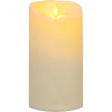 """Свеча пластиковая  TWINKLE с эффектом """"живого"""" пламени,  17,5 см, бежевый"""