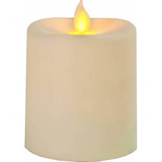 Свеча пластиковая  с эффектом мерцающего пламени,  8,5 см, бежевый