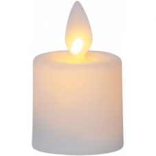 """Свечи пластиковые  M-TWINKLE с эффектом """"живого"""" пламени, 6 см, 2 шт, белый"""