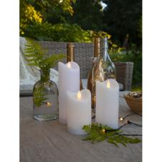 Свеча пластиковая  BIANCO с эффектом мерцающего пламени,  12 см, белая