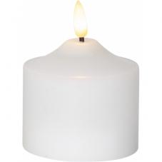 Свеча с 3D пламенем FLAMME, 9,5 см, таймер, белый парафин