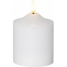 Свеча с 3D пламенем FLAMME, 12 см, таймер, белый парафин