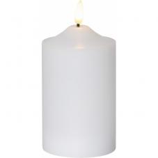 Свеча с 3D пламенем FLAMME, 15 см, таймер, белый парафин