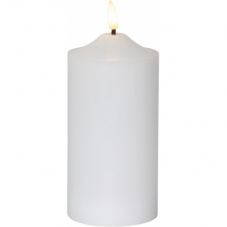 Свеча с 3D пламенем FLAMME, 17 см, таймер, белый парафин