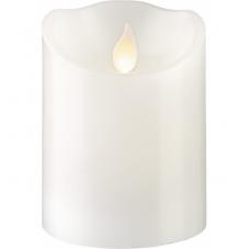 Свеча с эффектом мерцающего пламени, 10 см, таймер,  белая