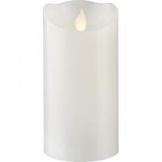 Свеча с эффектом мерцающего пламени, 15 см, таймер,  белая