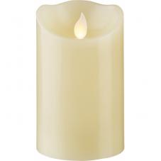 Свеча с эффектом мерцающего пламени, 12,5 см, таймер,  бежевая