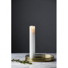 Свеча M-TWINKLE с эффектом живого пламени, 30 см, таймер,  белая