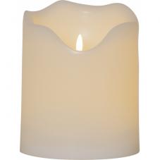 Свеча пластиковая с 3D пламенем FLAMME GRAND, высота 20 см, диаметр 16 см, белая