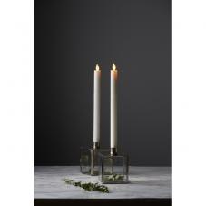 Свеча M-TWINKLE с эффектом живого пламени, 2 шт.. 30 см, таймер,  белая