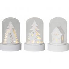 Комплект светильников рождественских KUPOL на батарейках, 8,5 см, 3 штуки, белый