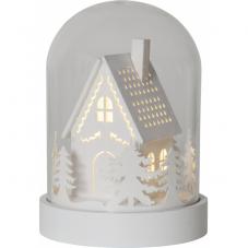 Светильник рождественский KUPOL на батарейках с таймером, 17,5 см, белый