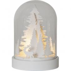 Светильник рождественский KUPOL Олени в лесу, на батарейках с таймером, 17,5 см, белый