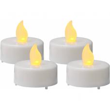 Свеча, 4 шт., 3 см, пластик, белый