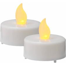 Свеча, 2 шт., 4 см, пластик, белый