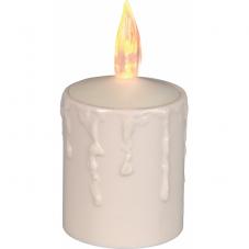 Свеча пластиковая  сенсорная, 11 см, белая