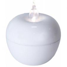 Свеча Яблоко, 10 см,  пластик, белый