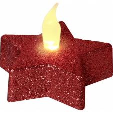 Свечи SHINE, 2 шт., 5 см, пластик, красный