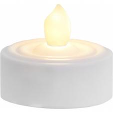 Свечи пластиковые PAULO, 2,9 см, 2 шт, таймер, белый