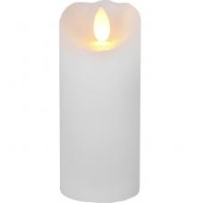 Свеча с эффектом мерцающего пламени, 12,5 см, таймер, белый воск