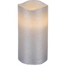 Свеча LINDA, 15 см, таймер, серебрянный воск