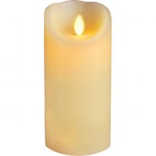 Свеча с эффектом мерцающего пламени, 17,5 см, таймер,  бежевая