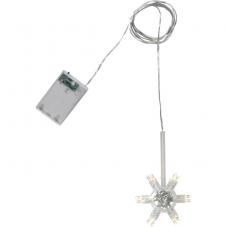 Гирлянда для подсветки плафонов звезд, 14,5 см, на батарейках с таймером