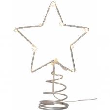 Звезда - макушка TOPSTY , 20 см, металл, теплый белый