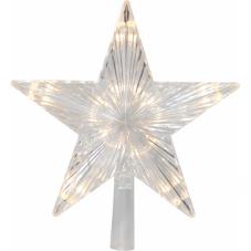 Звезда - макушка TOPSTY , 24 см, пластик, теплый белый