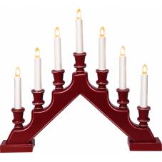 Горка рождественская SARA COUNTRY, 7 свечей, 38 см, красный