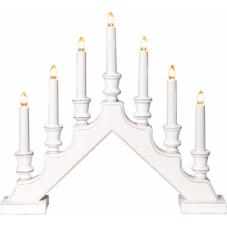Горка рождественская SARA COUNTRY, 7 свечей, 38 см, белый