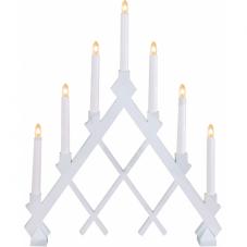 Горка рождественская RUT, 7 свечей, 53 см, белый