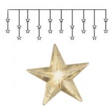 Занавес со звездами 180х40 см, теплый желтый