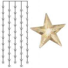Занавес со звездами 90х200 см, теплый желтый