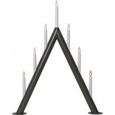 Светильник декоративный CIRCUM, 7 свечей, 66 см, темно-серый