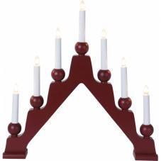 Светильник декоративный EMMA, 7 свечей, 45 см, красный