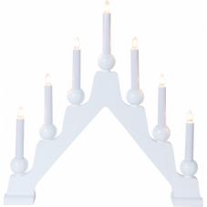 Светильник декоративный EMMA, 7 свечей, 45 см, белый
