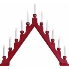 Горка рождественская  STELLAN, 11 свечей, 69 см, красный