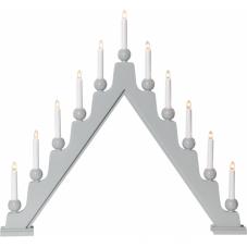 Горка рождественская  STELLAN, 11 свечей, 69 см, светло-серый