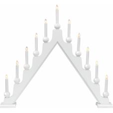 Горка рождественская  STELLAN, 11 свечей, 69 см, белый