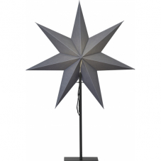 Звезда на подставке OZEN, 75 см, серый